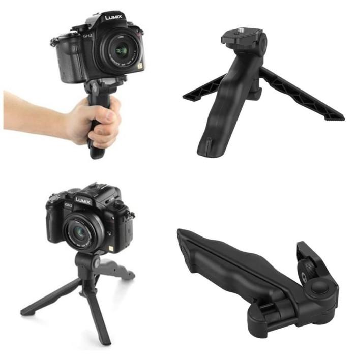 Foto Produk Taffware Mini Foldable Folding Tripod Stand - Black dari Grosir Aksesoris Kamera