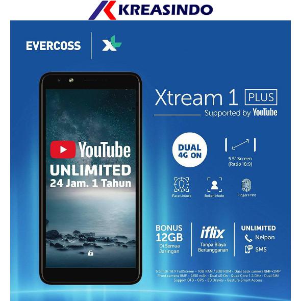 Foto Produk EVERCOSS U6 XTREAM 1 PLUS 1+ RAM 1GB ROM 8GB Garansi resmi - Emas dari Kreasindo Online