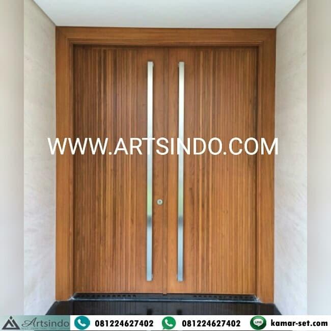 Jual Pintu Rumah Minimalis Kayu Jati Kusen Pintu Kupu Tarung Double Kab Jepara Artsindo Tokopedia