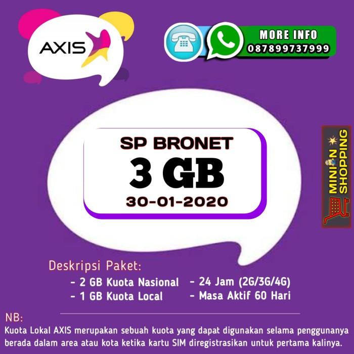 Foto Produk PERDANA AXIS BRONET 3 GB (ALL JARINGAN) dari Minion Shopping