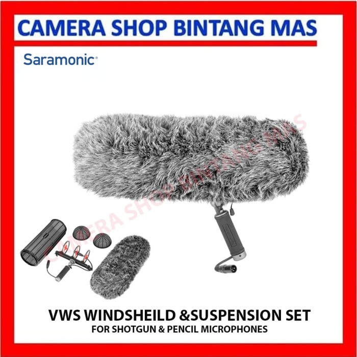 Foto Produk Saramonic VWS Windshield & Suspension Set for Microphone dari Camera Shop Bintang Mas