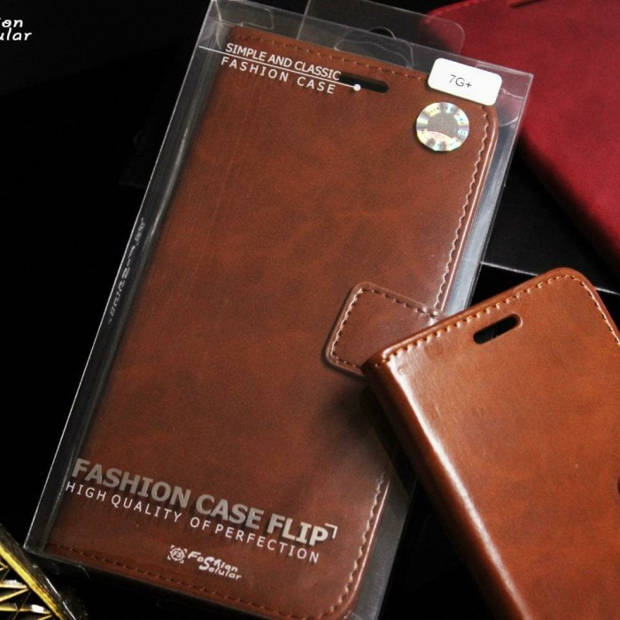 Foto Produk LEATHER FLIP COVER WALLET REALME 5 PRO 5PRO CASE CASING dari GALAXY.S ACC