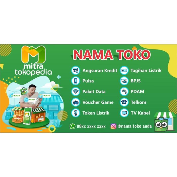 Jual Spanduk Banner Mitra Tokopedia Ukuran 2m X 1m Baru Kota Kediri Exnow Design Tokopedia