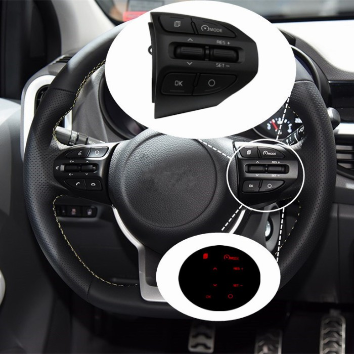 For Kia 2017 RIO  Steering Wheel Cruise Control Buttons Remote channel heating
