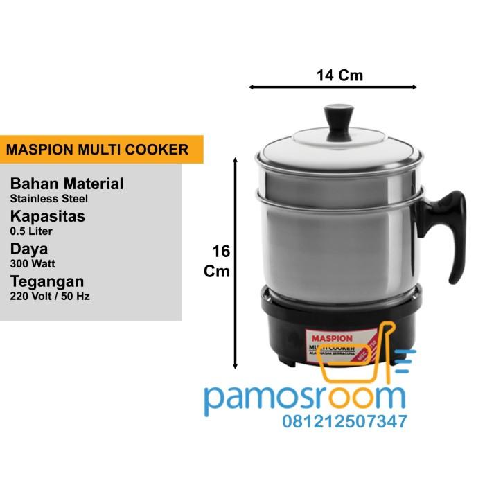 Multi cooker (alat masak serbaguna) maspion 300w 0.5 l | mec-1750
