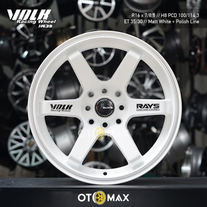 Jual Velg Mobil Volk Racing Wheel H639 Ring 16 Matt White Polish Line Kota Tangerang Sinar Otomax Indonesia Tokopedia