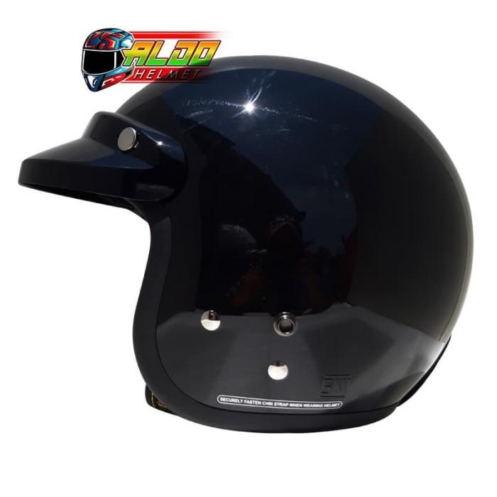 harga Helm cargloss retro black metalic + pet Tokopedia.com