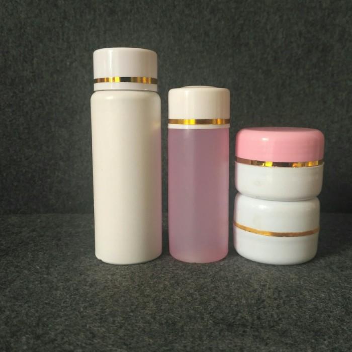Foto Produk paket whitening 4 in 1 toner pink non label dari TEPSKINCARE TANGERANG