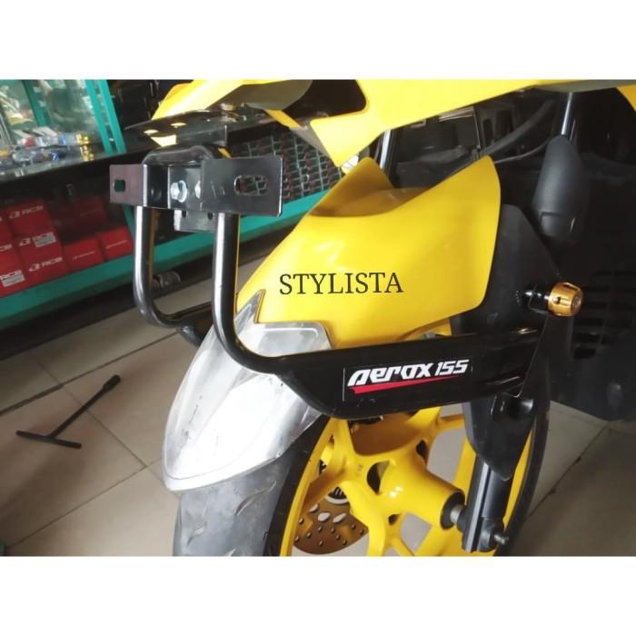 harga Dudukan plat nomor aerox 155 bahan kokoh berkualitas aksesoris motor