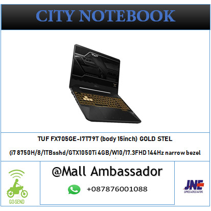 Jual Laptop Asus Tuf Fx705ge I7t79t I7 8750h Ram 8gb Gtx1050ti 4gb 144hz Jakarta Selatan City Notebook Tokopedia