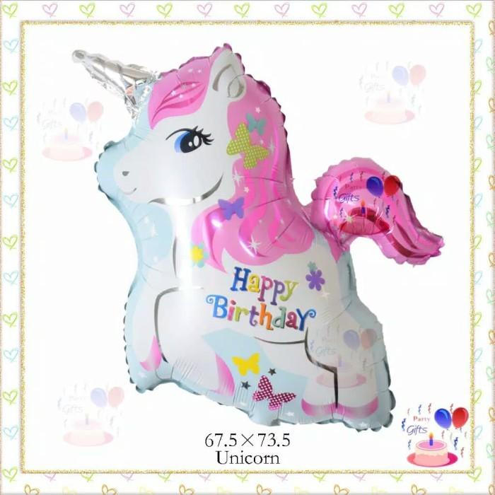 Jual Balon Unicorn Happy Birthday Pink Kuda Little Pony Kartun Karakter Jakarta Pusat A Habit Shop Tokopedia