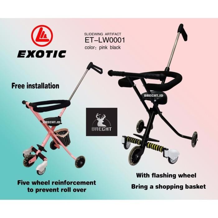 Foto Produk Stroller Lipat Murah Exotic ET-LW0001/ Dorongan Anak Lipat dari BRECHT.ID