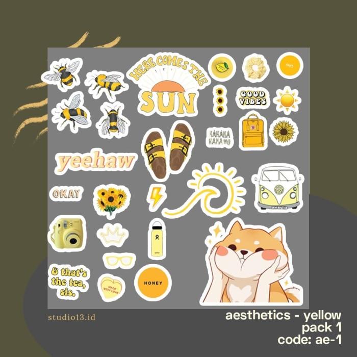 Jual Aesthetic Sticker Pack Ae 01 Kota Bandung Studio13