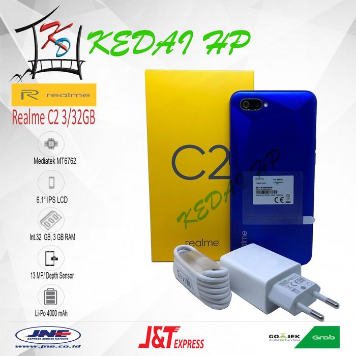 harga Realme c2 3/32gb garansi resmi - biru Tokopedia.com