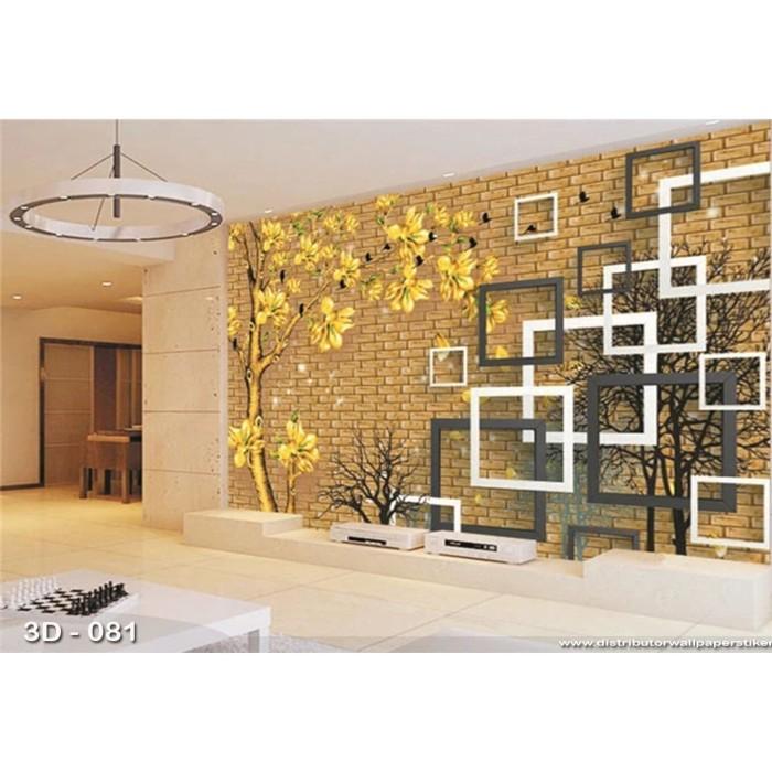 Jual Wallpaper 3d Custom Wallpaper Dinding Sakura Kuning Jakarta
