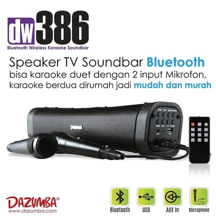 harga Speaker dazumba dw386 dw-386 audio music mp3 player bluetooth karaoke Tokopedia.com