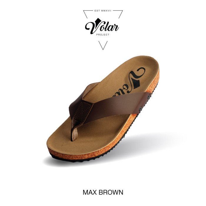 Foto Produk SANDAL CASUAL PRIA VOLAR TAP BROWN dari WAT | Footwear