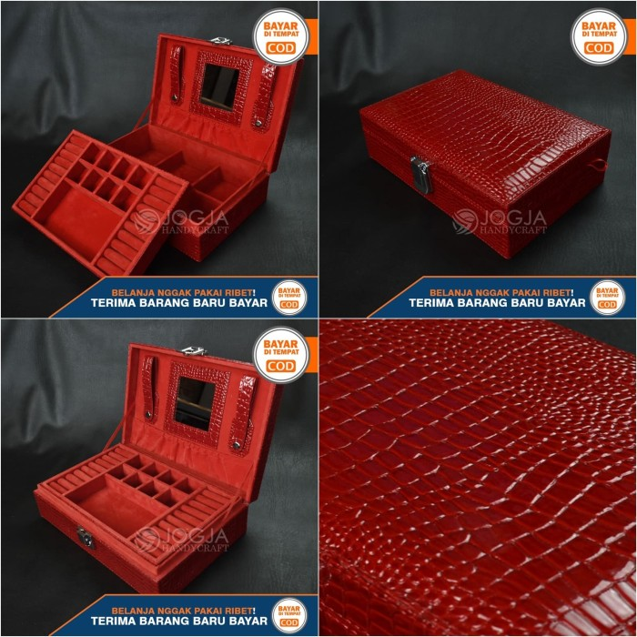 harga Exclusive jewelry boxes red croco   tempat perhiasan dan accesories Tokopedia.com