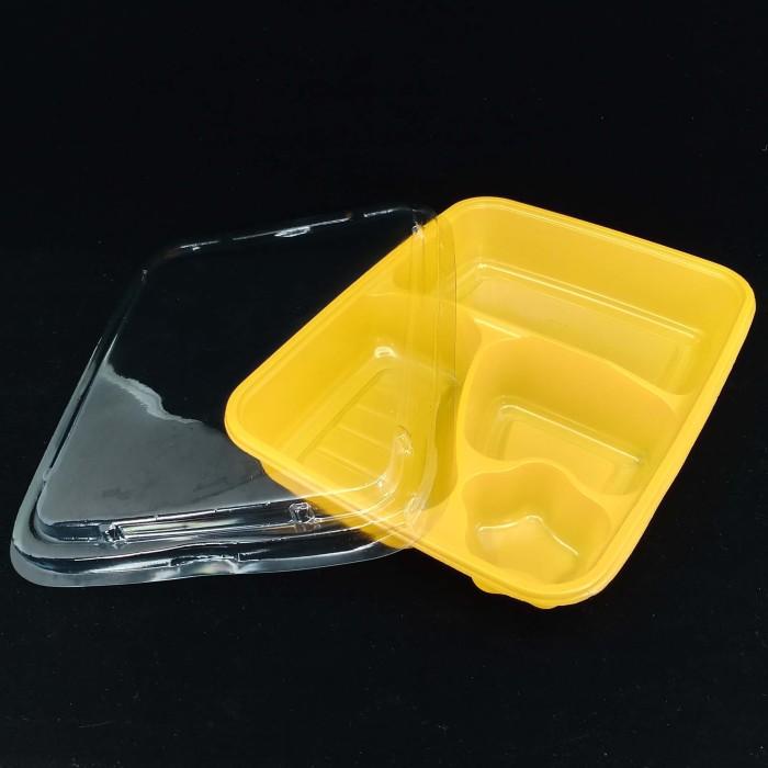 Foto Produk MIKA BENTO LUNCH BOX TEMPAT MAKAN BENTO - SKAT 4-KUNING - ISI 50 PCS dari BCA PACK