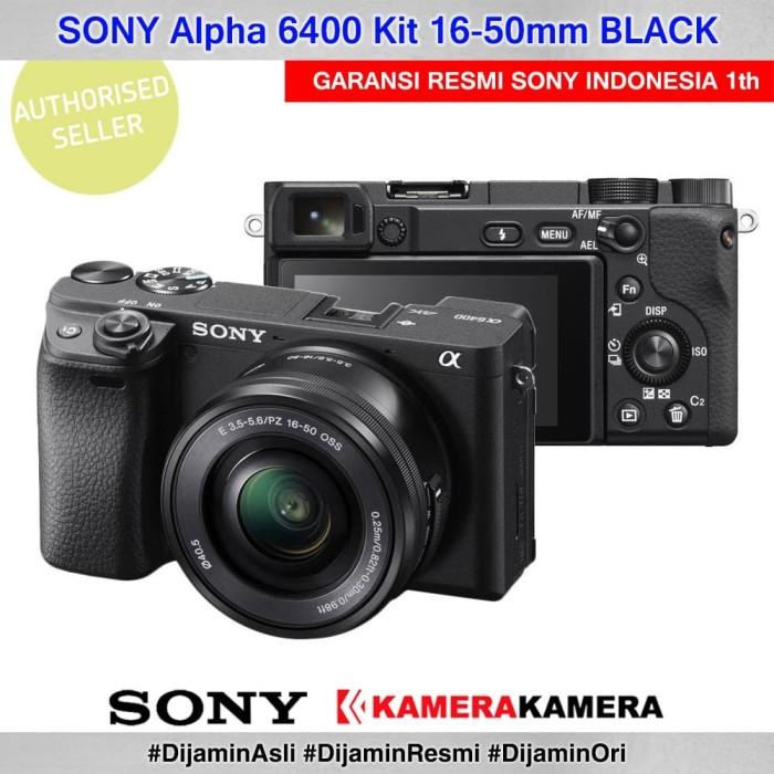 Kamera mirrorless sony alpha 6400 kit black kamera vlog murah a6400