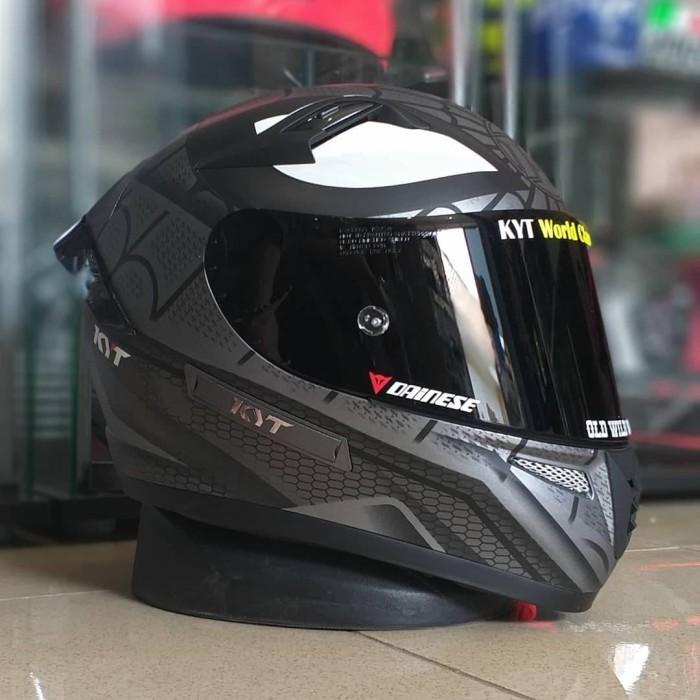 Jual KYT K2R spiderman gunmet matte visor flat darksmoke