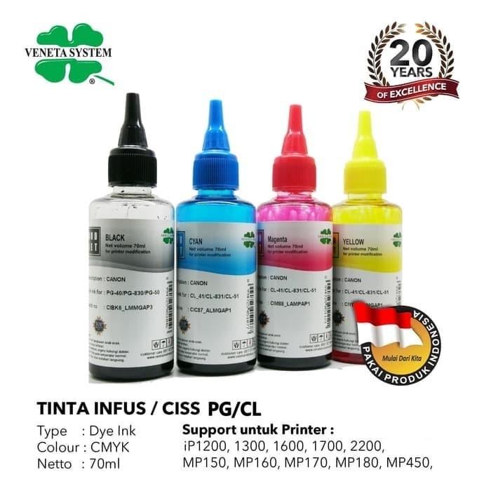 Foto Produk TINTA INFUS / CISS CANON BLACK / COLOR - 70 ML - Biru dari Veneta System OL-Shop