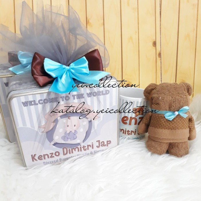 Foto Produk Hampers One Month. Handuk Beruang. Bear Towel. Souvenir Baby Born. dari yei.collection