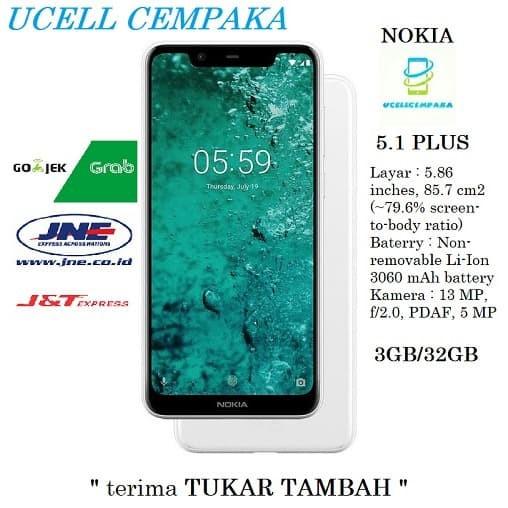harga Nokia 5.1 plus ( nokia x5 ) garansi resmi 1 tahun Tokopedia.com