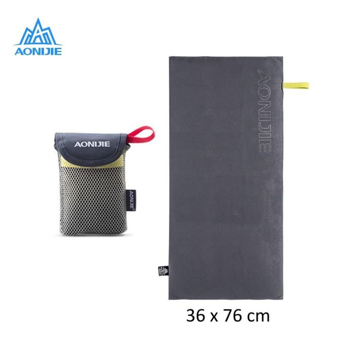 harga Aonijie e4071 cooling microfiber sport towel - handuk olahraga gray Tokopedia.com