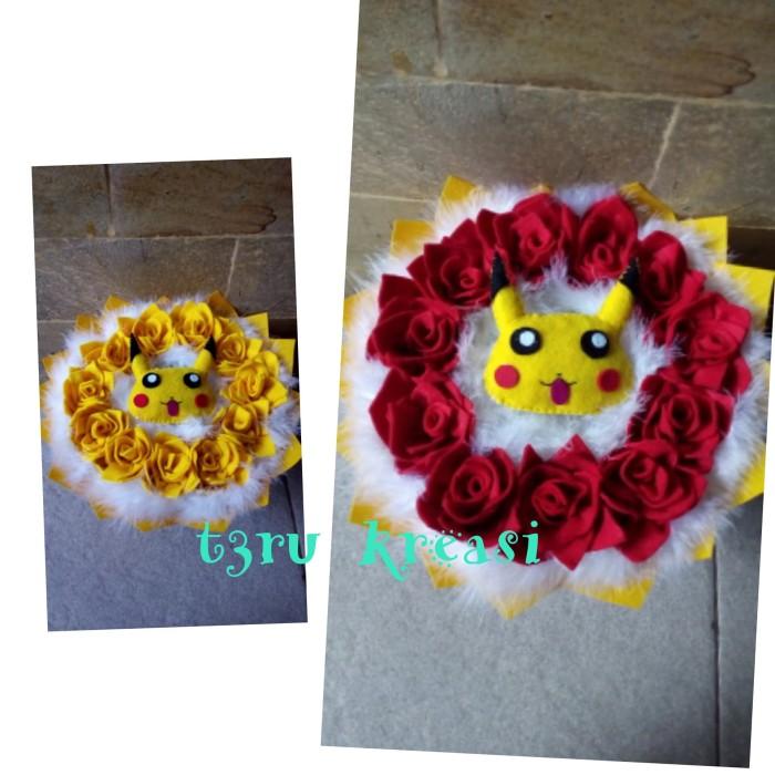 Jual Buket Bunga Kain Flanel Pikachu Buket Pikachu Buket Pikacu Kab Bekasi T3ru Kreasi Tokopedia