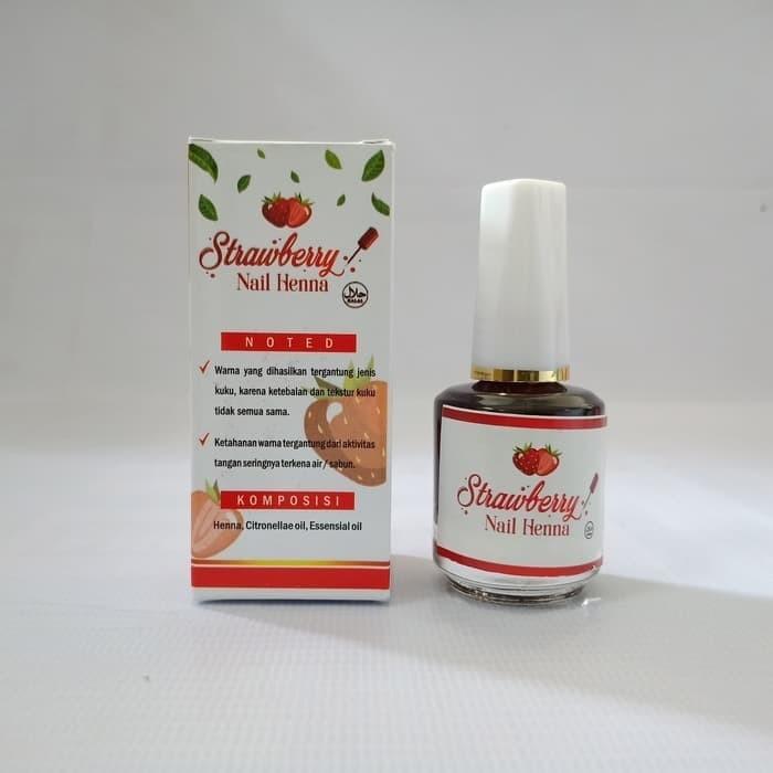 Jual Semir Alis Henna Halal Di Lapak Yasier Mila Milla Yasier: Jual Strawberry Nail Henna 15ml Kutek Halal Sah Untuk