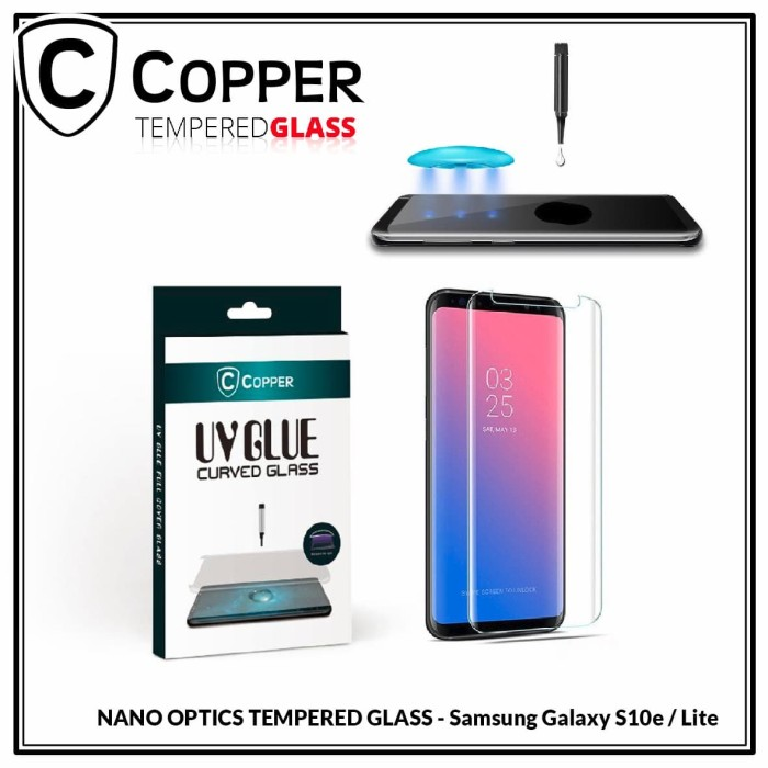 harga Samsung galaxy s10 lite - copper nano uv glue tempered glass Tokopedia.com