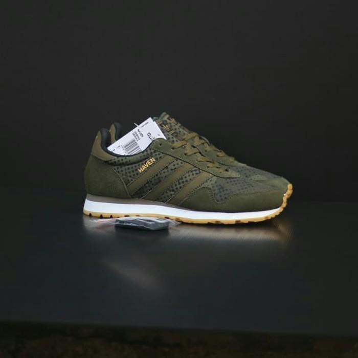 Jual sepatu adidas haven green army