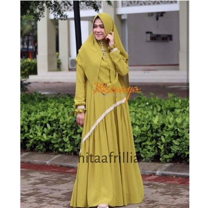 Jual Model Gamis Syari Bahan Ceruti Premium Terbaru Ranaya Set Khimar Gamis Kota Surabaya Plaza Cantika Tokopedia