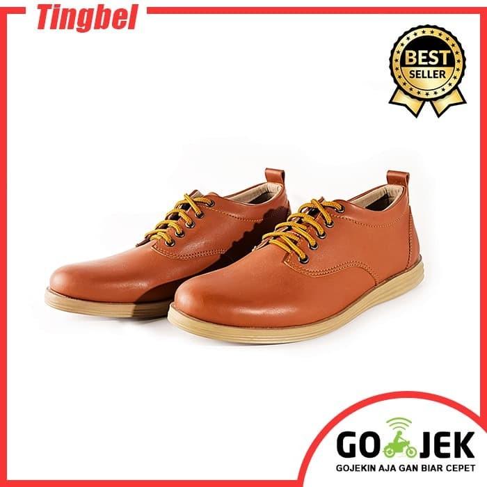 harga Adamsbell sepatu kulit sintetis pria casual tan 002 Tokopedia.com