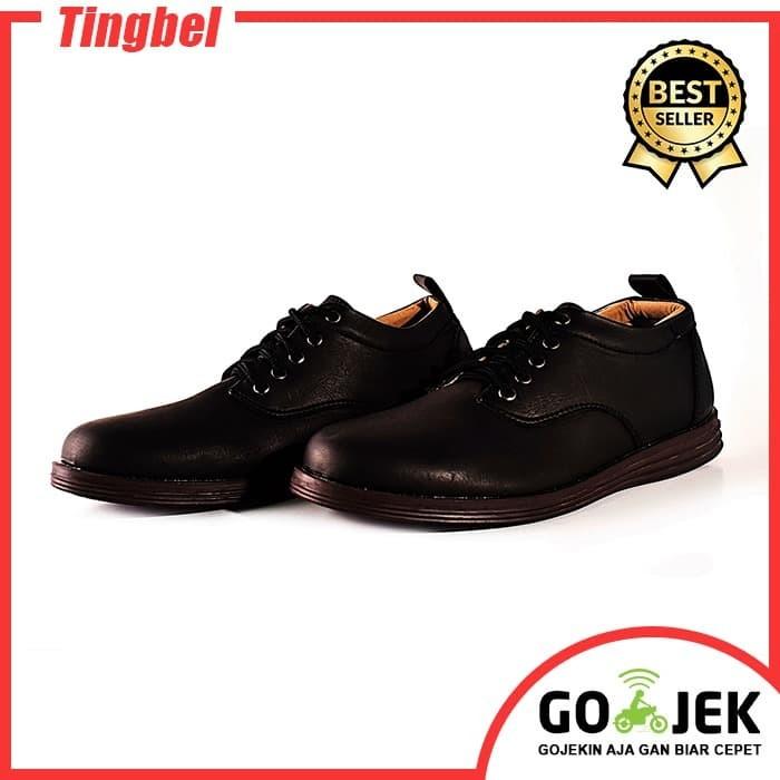 harga Adamsbell sepatu kulit sintetis pria casual hitam 002 Tokopedia.com