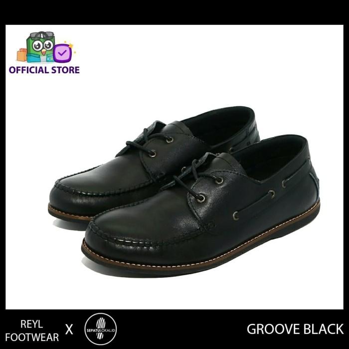 harga Reyl groove series | sepatu pantofel pria sepatu kulit pria formal ori - hitam 42 Tokopedia.com