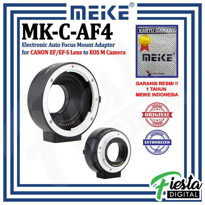 Foto Produk Lensa adapter / Adaptor Mount Meike Canon EF-S to EOS-M dari Fiesta Digital