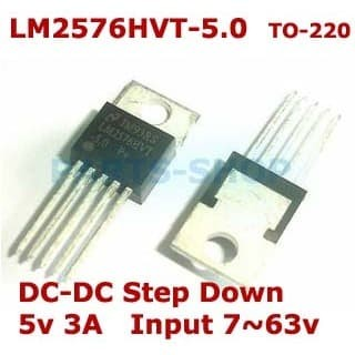 3A 5V LM2576 Buck Voltage Regulator ON Semiconductor 5-Pin TO-220