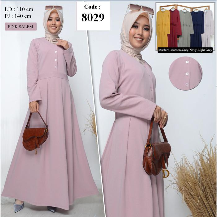 Foto Produk Baju Muslim / Gamis Wanita / Gamis Busui / Gamis Muslim / Gamis Kaos - Merah Muda dari Hemat waktu fashion