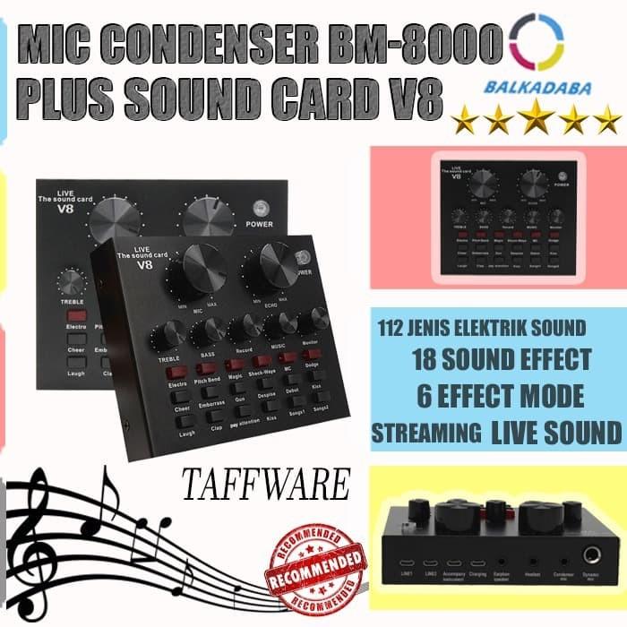 harga Sound card mixer external sound card audio live microphone v8 Tokopedia.com