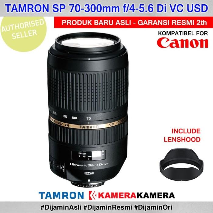 harga Lensa tamron sp af 70-300mm f/4-5.6 vc usd lensa kamera dslr for canon Tokopedia.com