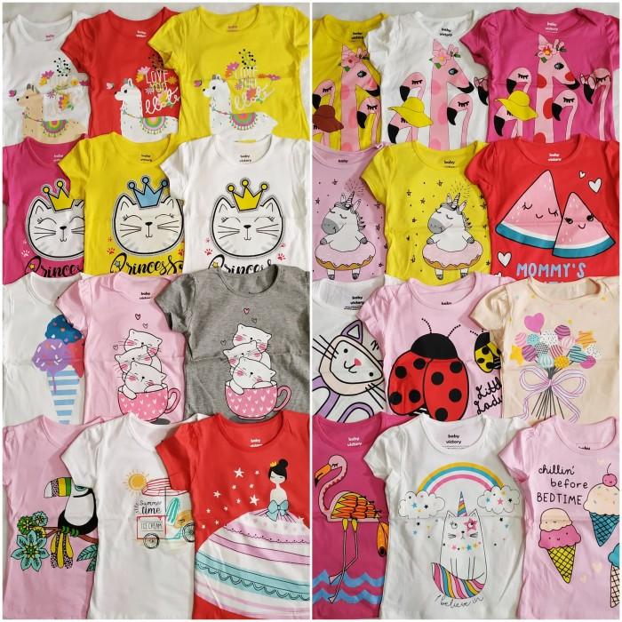 Foto Produk Kaos Anak Baby Victory Motif Cowok dan Cewek - motif cewek, size 3 dari Nel Collection