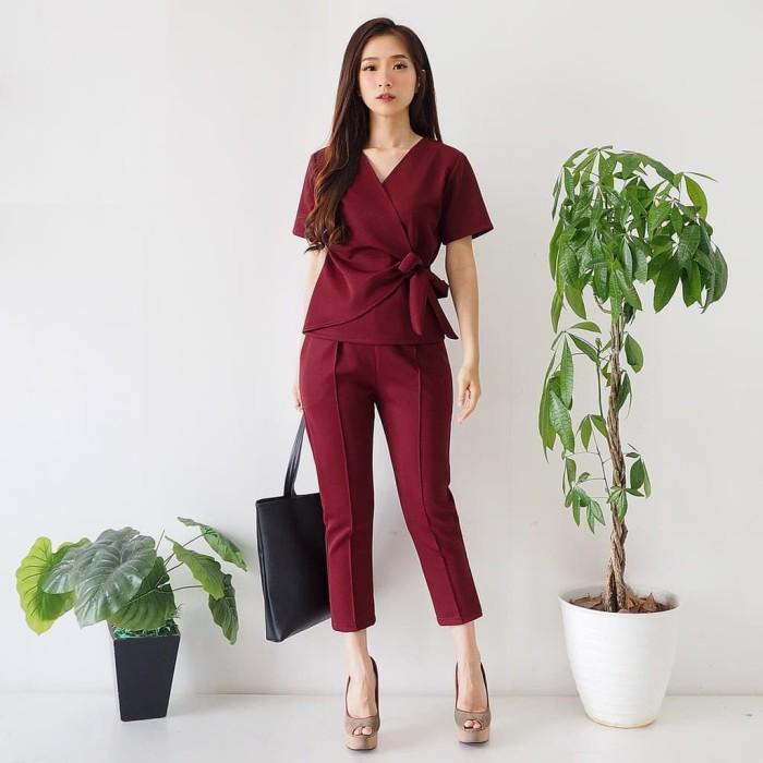 Foto Produk Setelan Baju dan Celana Wanita Bahan Scuba Premium dari Fraire Collection