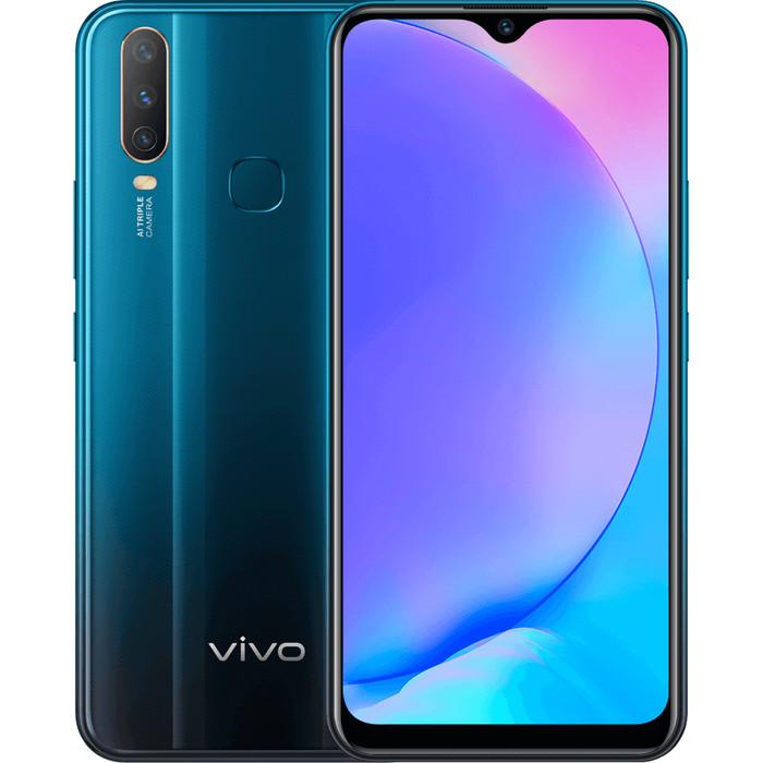 Vivo Y17 Dual SIM Smartphone 4GB+128GB - Mineral Blue - 5000mAh battery, AI Triple Camera, Fast...