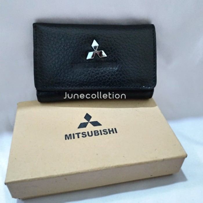 Foto Produk Gantungan Kunci Dompet STNK Mobil Dan Motor MITSUBISHI Asli Kulit dari junecolletion