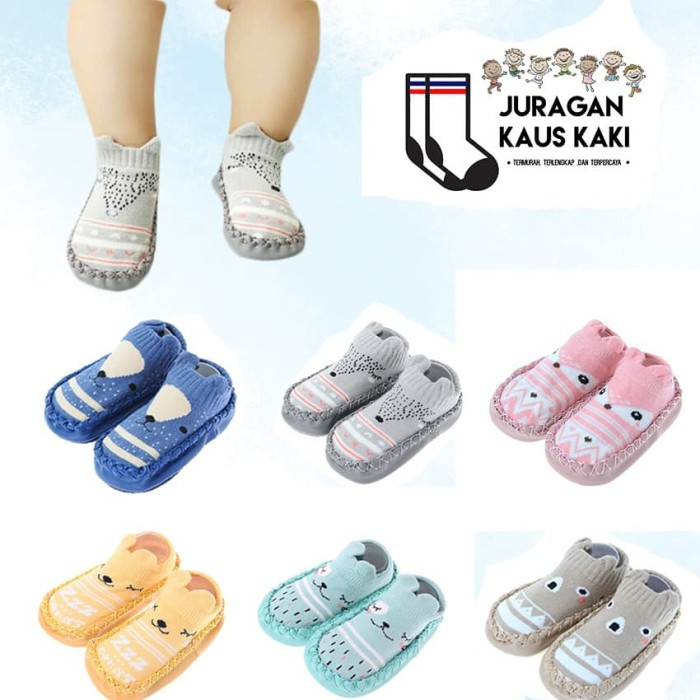 Foto Produk Baby prewalker sepatu bayi lucu kaos kaki booties skidder skidders - 11 cm, Kuning dari Juragan kaus kaki