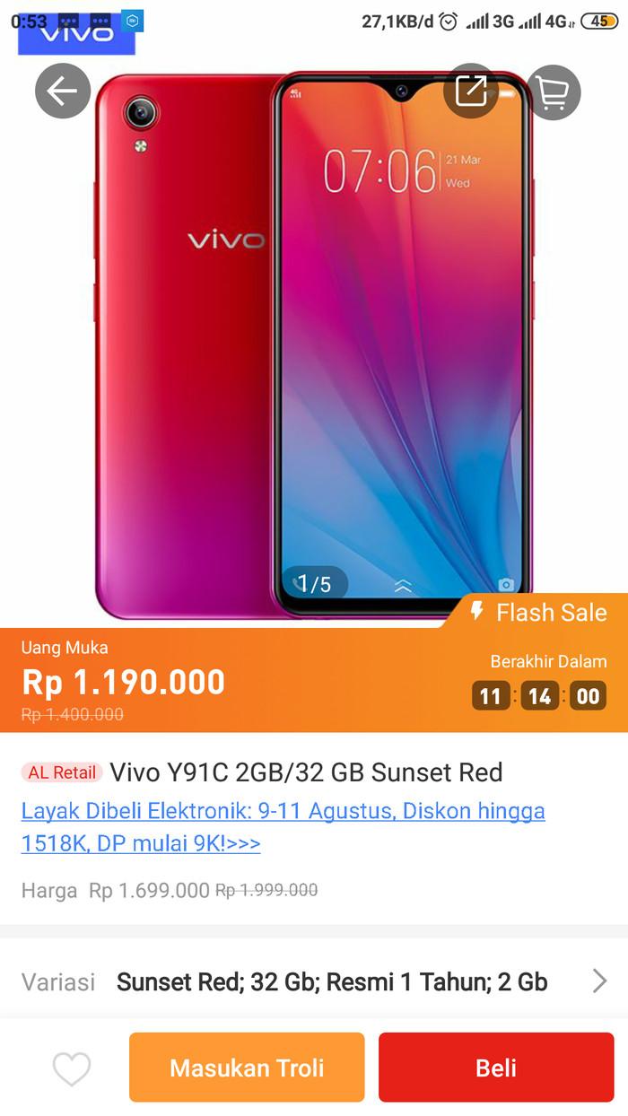 Jual Hp Vivo YC91 Jakarta Utara CellphoneCellular
