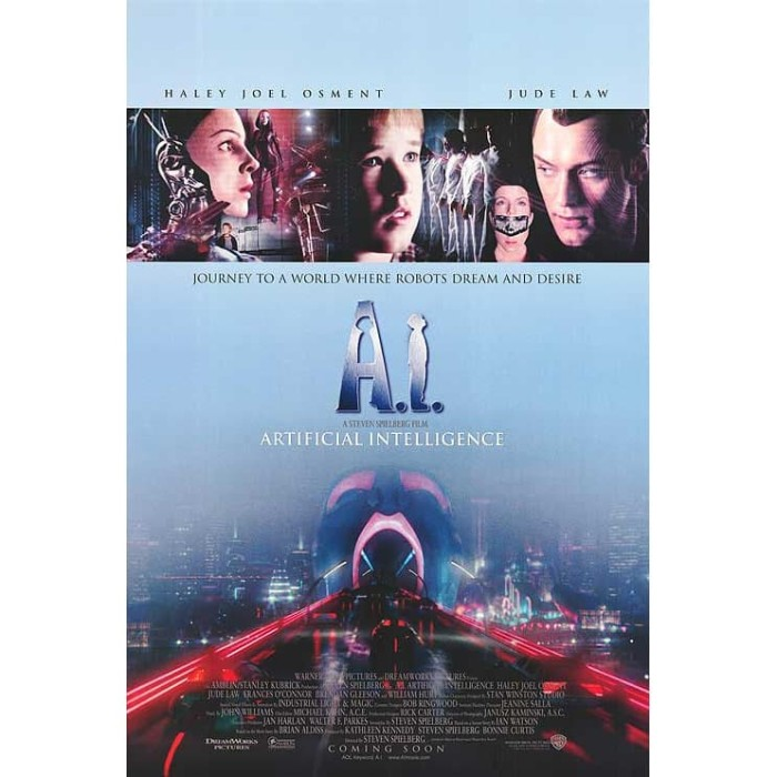 Jual Dvd Film A I Artificial Intelligence 2001 Kab Karawang Dvd Movie Update Tokopedia