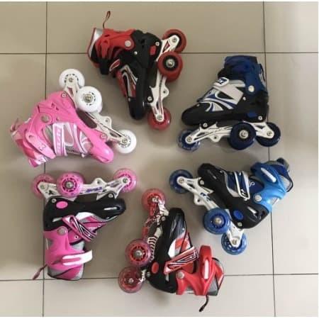 harga Sepatu roda anak bajaj murah sepatu inline skate lampu Tokopedia.com
